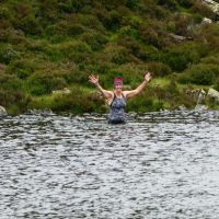 Midge at the other side of Blackbeck Tarn