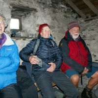 Resting inside Warnscale Head Bothy