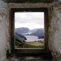 The view out of Warnscale Head Bothy