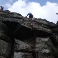 Dave S topping out on Topsail (Oi Ding Koy)