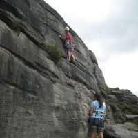 Nils & Gowry on Stokers Hole HS4a (Roger Dyke)