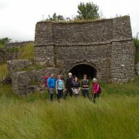 Assembled in front of the lime kiln
