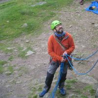 Andy on belay