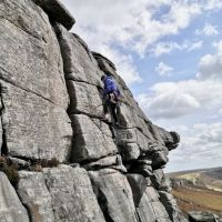 High on the route, just the jamming crack to finish (Andy Stratford)