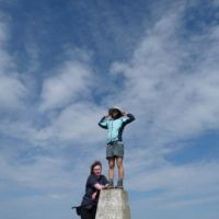 Ding on the trig-point (Oi Ding Koy)