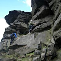 Sheena and Dave go climbing (Roger Dyke)