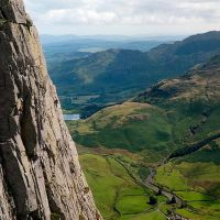 Climber on 'D' Route, Gimmer (Sean Kelly)